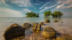 Day secret beach near airport panorama 4k time lapse phuket thailand Stock Footage