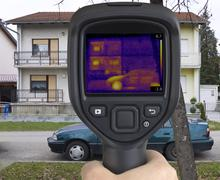 House Thermal Imaging - stock photo