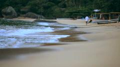 Beach low angle shot. Stock Footage