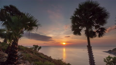 phuket island observation deck sunset panorama 4k time lapse thailand - stock footage