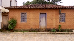 Traditional classical portuguese colonial home Stock Footage