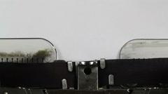 Typing Solution on typewriter - stock footage
