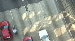Traffic viewed from above Stock Footage