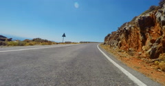 Driving on Mountain Road on Crete Island Crete Stock Footage