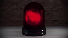 Police light flashing law enforcement hazard siren cops crime car cruiser 4k - stock footage