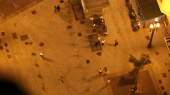 City view from above. Bird's eye view of people walking Stock Footage