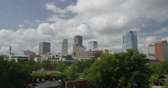 Little Rock Skyline - stock footage