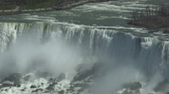 Bridal Veil Falls (Niagara Falls) - U.S. side (In New York State) viewed from th Stock Footage