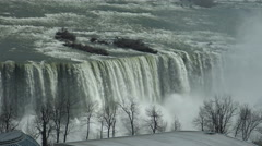 View of the Horseshoe Falls, part of Niagara Falls Stock Footage