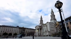 """Time Lapse Leeds Civic Hall, PRO REGE ET LEGE ,is Latin """"For King and the law,UK Stock Footage"""