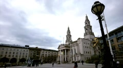 """Leeds Civic Hall PRO REGE ET LEGE, is Latin """"For King and the law Stock Footage"""