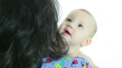Little Baby With Healthcare Worker - stock footage
