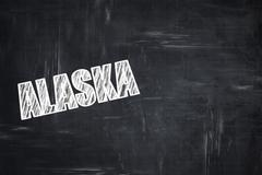Stock Illustration of Chalkboard background with chalk letters:  alaska