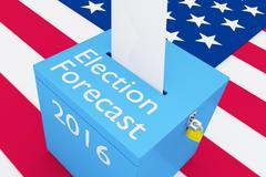Election Forecast 2016 election concept - stock illustration