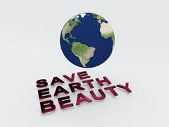 Save Earth Beauty Concept - stock illustration