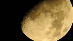 Moon Closeup - stock footage