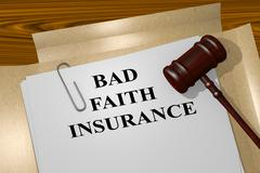 Bad Faith Insurance legal concept Stock Illustration