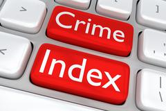 Crime Index concept Stock Illustration
