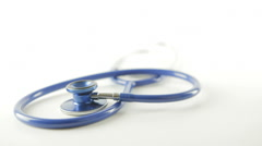 Medical Stethoscope Healthcare Isolated Background - stock footage