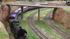 Australian Model railway HO Steam train Stock Footage