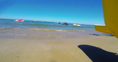 Beautiful Beach Coastline in Crete Stock Footage