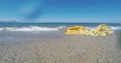 Sunny Day at Beach in Crete Greece Stock Footage