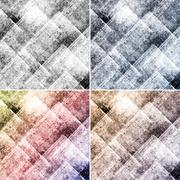 Geometric grunge colorful backgrounds with squares Stock Illustration