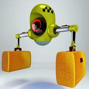 futuristic robot taxi - stock illustration