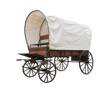Covered wagon isolate on white Kuvituskuvat