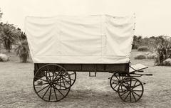 Covered wagon vintage style Kuvituskuvat