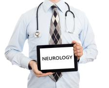 Doctor holding tablet - Neurology Stock Photos