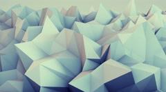 Low poly relief 3D render loop 4k UHD (3840x2160) Stock Footage