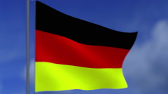 Flag of the Federal Republic of Germany - stock footage