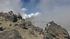 POV walk on the top of Gokyo Ri in Nepal Stock Footage