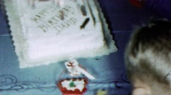 1963: Happy Birthday David cake friends party attendance wellwishers. Stock Footage