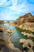 Unseen Thailand grand canyon sam pan bok at ubonratchathani Stock Photos