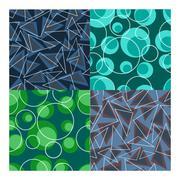 vector seamless patterns set - stock illustration