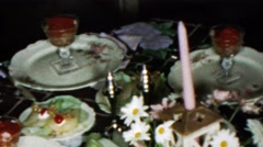 1963: Cocktail fancy seafood raw fish crackers sauce appetizers. Stock Footage
