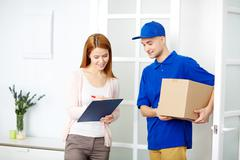 Delivery of parcel Stock Photos