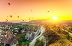 Hot air balloons over Cappadocia Kuvituskuvat