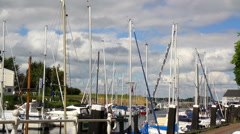Yachts in the port Veere. Stock Footage