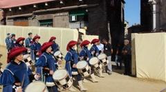 Pallio di Siena Parade Stock Footage