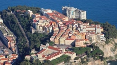 Aerial View of Monaco-Ville Stock Footage