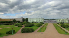 View of St. Petersburg from height of bird's flight Stock Footage