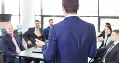 Corporate business team office meeting. - stock photo