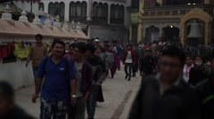 Nepal 1 Year After the Earthquake. Bodhnath People Stupa Timelapse 4K - stock footage