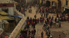 Nepal 1 Year After the Earthquake. Bodhnath People Timelapse 4K Stock Footage