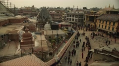 Nepal 1 Year After the Earthquake. Bodhnath from Above Timelapse 4K - stock footage