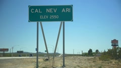 Town sign for Cal Nev Ari, Nevada Stock Footage