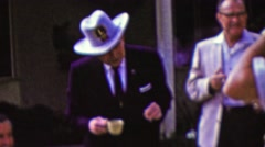 1961: Lions club members cowboy texas hat grandmaster leader. Stock Footage